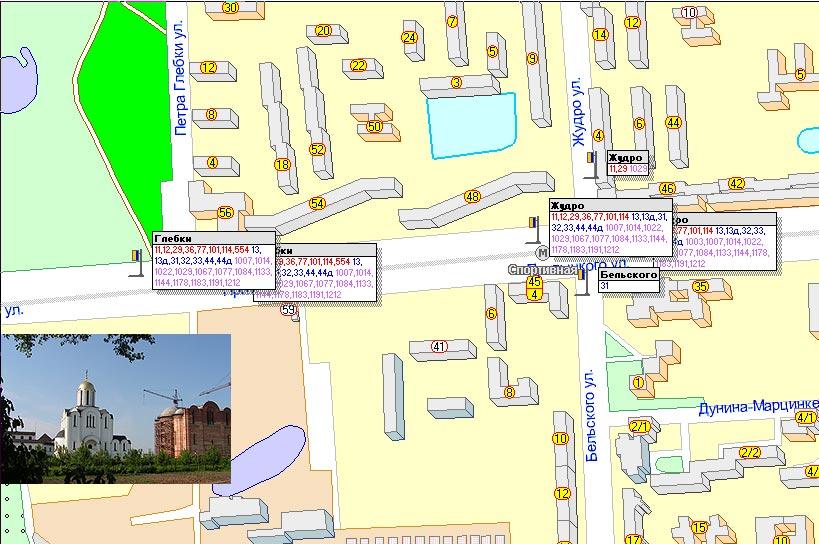 Схема проезда к приходу храма
