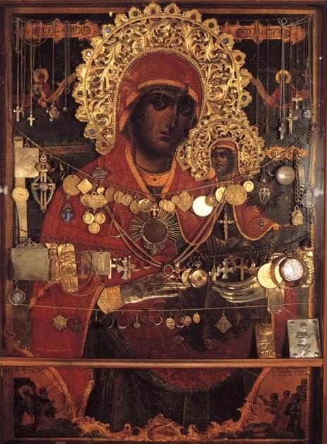 Чудотворная афонская икона святой праведной Анны
